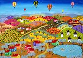Puzzle Pueblo de colores