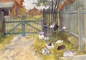 La porte de la ferme - Carl Larsson