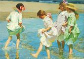 E. H. Potthast, Fratrie à la plage