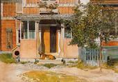 La véranda - Carl Larsson