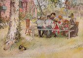 Déjeuner dans le jardin - Carl Larsson