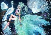 La jeune fille aux paons