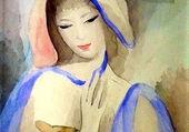 la dame en bleue