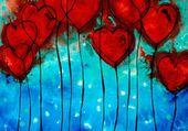 Coeurs coquelicots