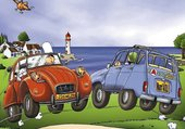 Puzzle Bretagne et voiture rétro