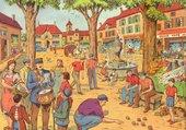 Puzzle La place du village