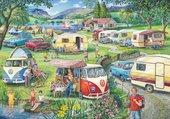Puzzle Camping vintage