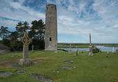Clonmacnoise en Irlande.