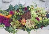 Composition de légumes et de fleurs