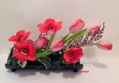 Composition florale de tulipes