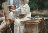 femme peintre en Italie
