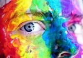 Puzzle visage peinturluré