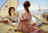 jeunes filles à la plage