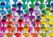 flots de peinture multicolore