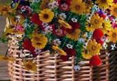 panier de fleurs de campagne