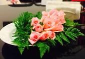Un plat de roses