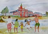 Puzzle LE CROTOY  La plage