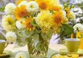 beau bouquet jaune