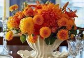 joli bouquet de dahlias orange