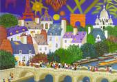 Puzzle Y.Salmon Duval: 14 juillet à Paris