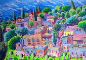 Puzzle R Perez: Village en terrasses