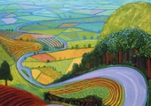 D Hockney: Garrowby Hill
