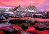Montagne en gris et rose