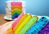 gateau à tranches colorées