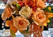 Puzzle bouquet orange