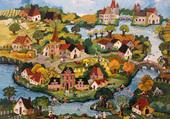 Puzzle Un charmant petit village