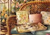 thé dans la véranda