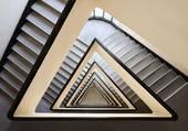 cage d'escalier triangulaire