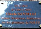 Plaque Claude Santelli