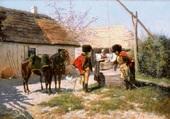 hussards au puits