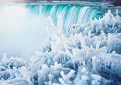 les chutes glacées