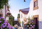 Puzzle village fleurie