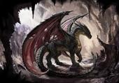 Dragon dans sa grotte