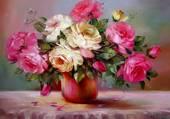 Peinture de jolies fleurs