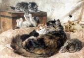 Puzzle les chatons et leur mère