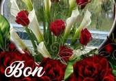 Jour de calendrier fleuri