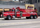 Towing Los Angeles fire DEPT