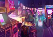 Salle d'Arcade At Night