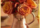 Puzzle joli bouquet de roses anciennnes