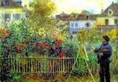 Puzzle Monet peignant dans son jardin