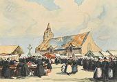Les bretonnes au marché