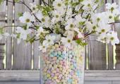 tiges de cerisiers en fleurs