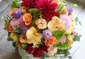 panier de fleurs