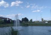 Fontaine vers Novotel à Beaune