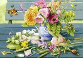 Belle peinture de fleurs