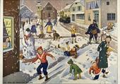 Puzzle Un jour de neige au village